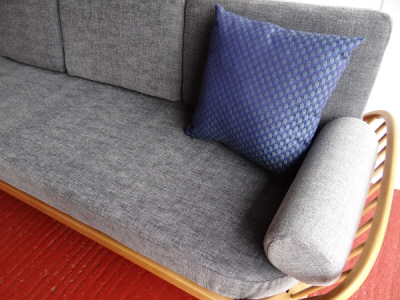 Pair Of Bolsters For Ercol Studio Couch Light Grey Stitch