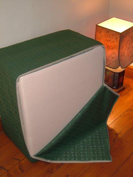 3fold Foldaway Mattress 25x25x5 Inches Green