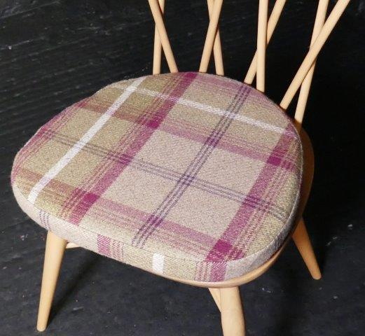 Ercol 365 Dining Seat Cushion And Cover In Porter Stone Balmoral
