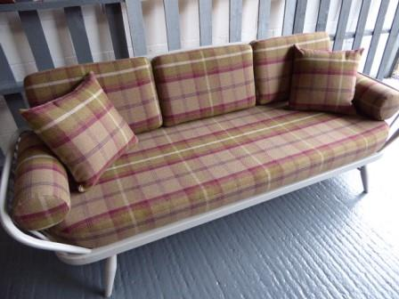 Ercol Studio Couch Heather Complete Set Of Cushions And