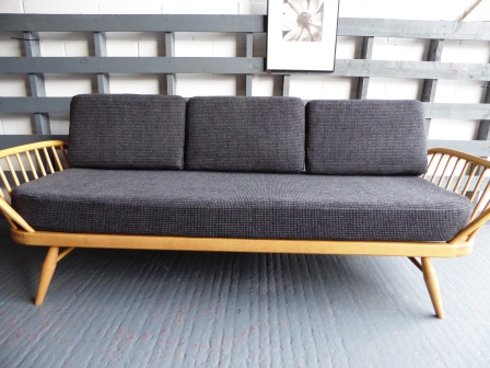 Ercol Studio Couch Galgate Grey Complete Set Of Cushions And Covers