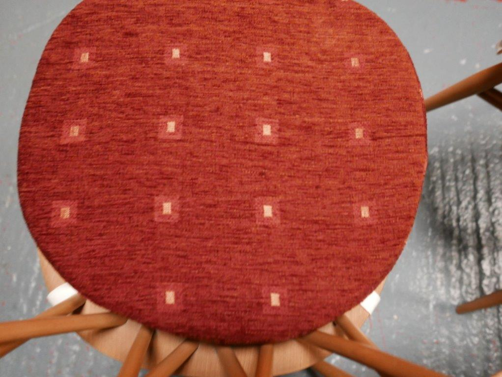 Ercol 365 Dining Seat Cushion And Cover In Terra Cotta