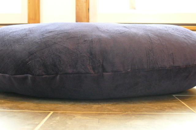 Massive Round Floor Cushion 34in Navy Blue Chenille