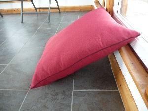 large floor cushion 25 x 25 firebrick red
